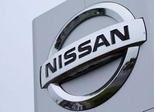 A Nissan logo pictured at a car dealership in Sunderland.