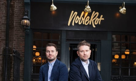 Dan Keeling and Mark Andrew, co-owners of Noble Rot Soho in London.