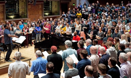 A rehearsal for LSO's first symphonic gospel concert in February. Choirs have been unable to rehearse or perform since the introduction of lockdown measures in March.