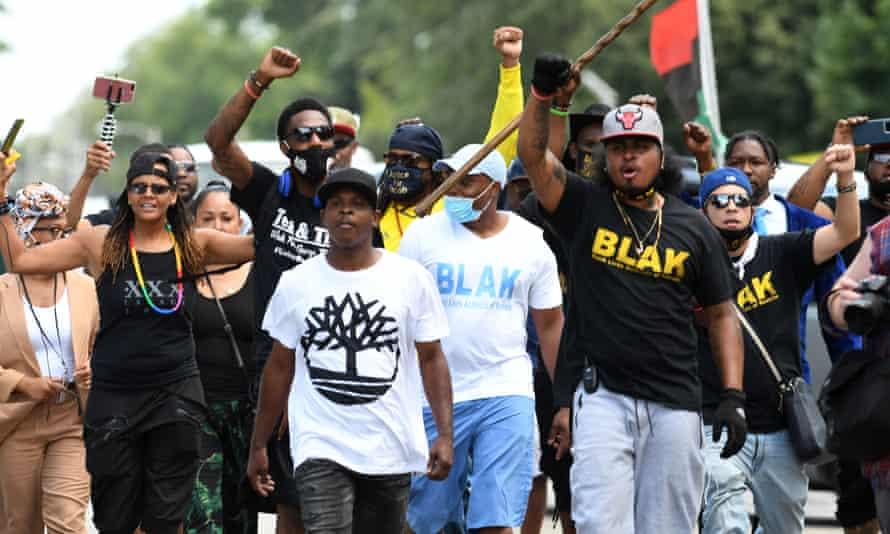 A Black Lives Matter protest in Kenosha, Wisconsin last week.