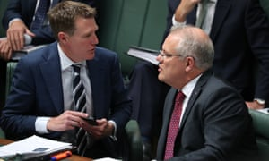 Attorney general Christian Porter and prime minister Scott Morrison