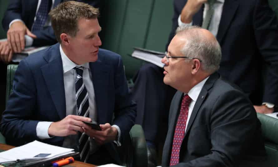 Attorney general Christian Porter and prime minister Scott Morrison