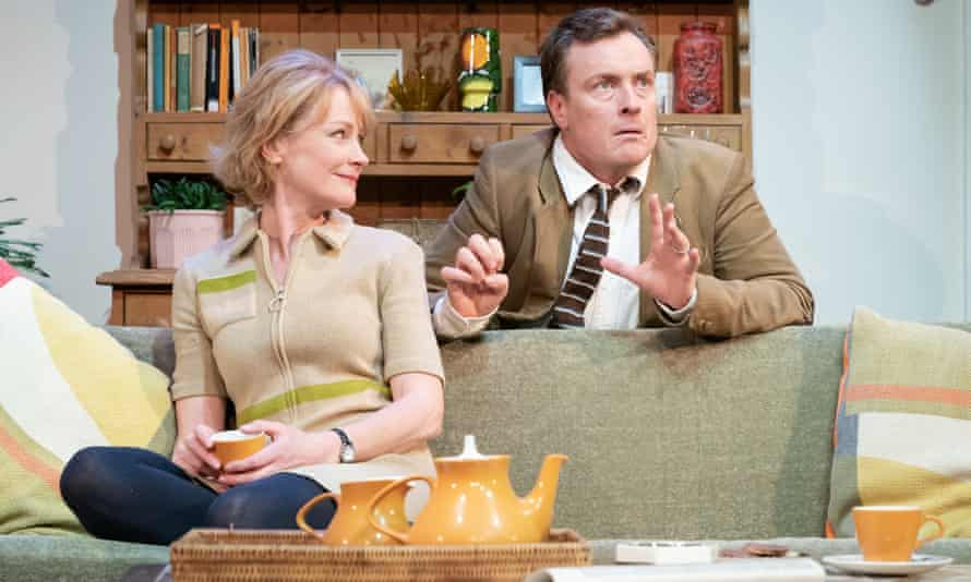 Living with despair … Claire Skinner and Toby Stephens.