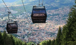 'At the top, the perspective changes like a kaleidoscope': a panoramic view of the city from the cable car.