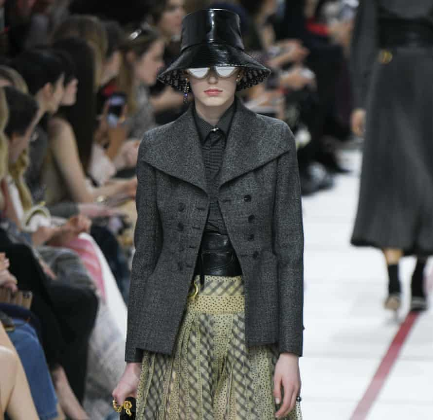 On the runway at Christian Dior women's wear, FW19/20, Paris.