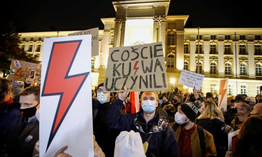Protest against Poland's ruling on abortion, in Warsaw