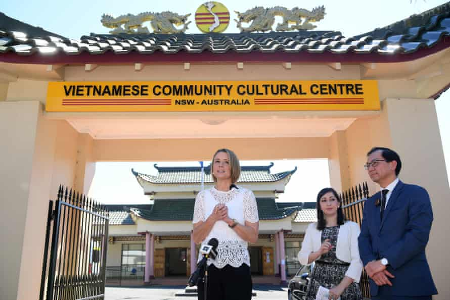 Labor senator Kristina Keneally at the Vietnamese Community Cultural Centre in Sydney on Saturday.