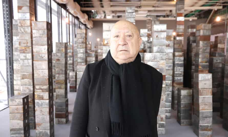 Christian Boltanski at an exhibition of his work at the Pompidou Centre, Paris, 2019.