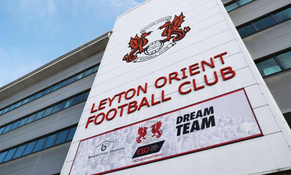 Leyton Orient's stadium, which has been closed because of a Covid-19 outbreak in their squad.