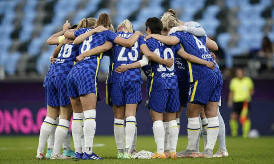 Chelsea FC before the Uefa Women's Champions League final in May