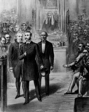 The Irish Home Rule leader Charles Stewart Parnell is removed from the House of Commons