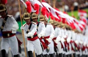 Official guards at Jair Bolsonaro swearing-in ceremony.