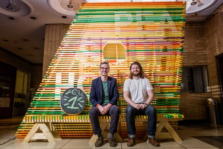 Chris Allen (left) and Joe Jack Williams (right), two of the team involved in the construction of Pea Soup House.