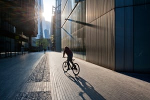 Throughout most of the lockdown, exercise time has been advised for up to an hour a day. My son heads out for an end-of-day bike ride near London Bridge