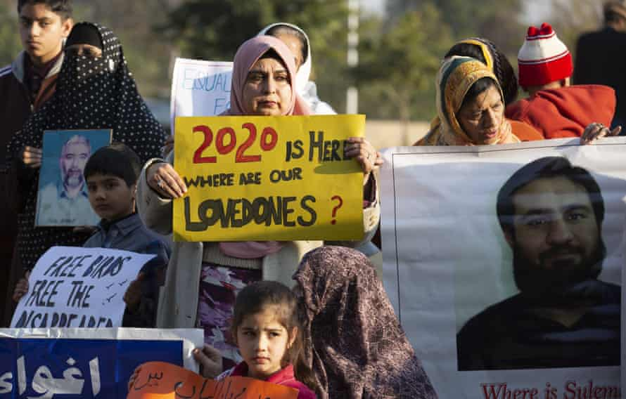 Family members of missing persons demonstrate in Islamabad