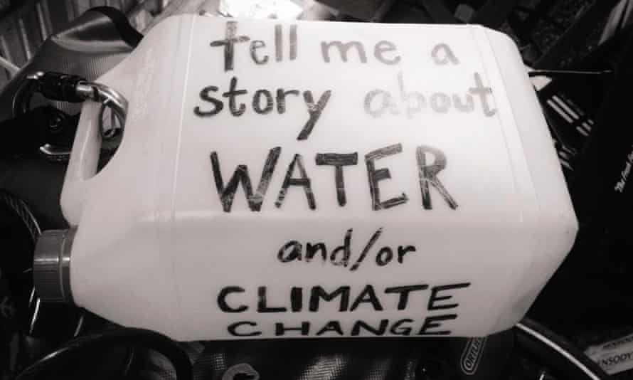 Slow cycling for 1001 stories about water / climate change Solo female touring cyclist Devi K. Lockwood is cycling slowly around the world to collect 1,001 stories about water and climate change.