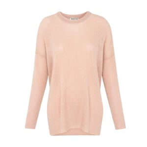 pale pink crew neck mohair jumper, Whistles