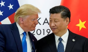 US president Donald Trump meets China's president Xi Jinping at the G20 summit in Osaka, Japan, in 2019.