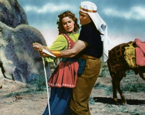 With Jeff Chandler in Flame Of Araby, 1951