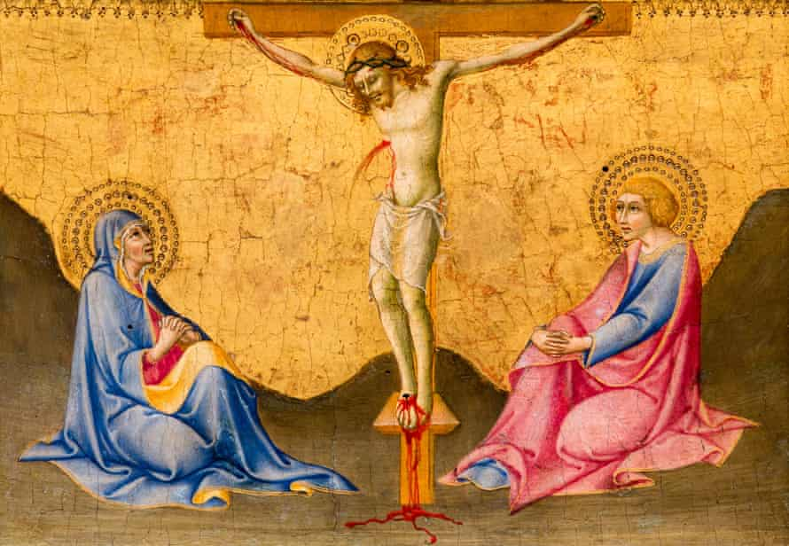 A terrible death: 15th-century painting of the crucifixion by Sano di Pietro.
