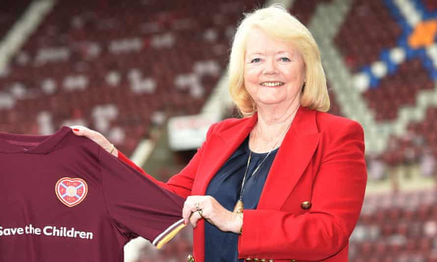 Ann Budge at Tynecastle in August 2020