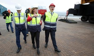 Michael Gove at Warrenpoint Port, Northern Ireland