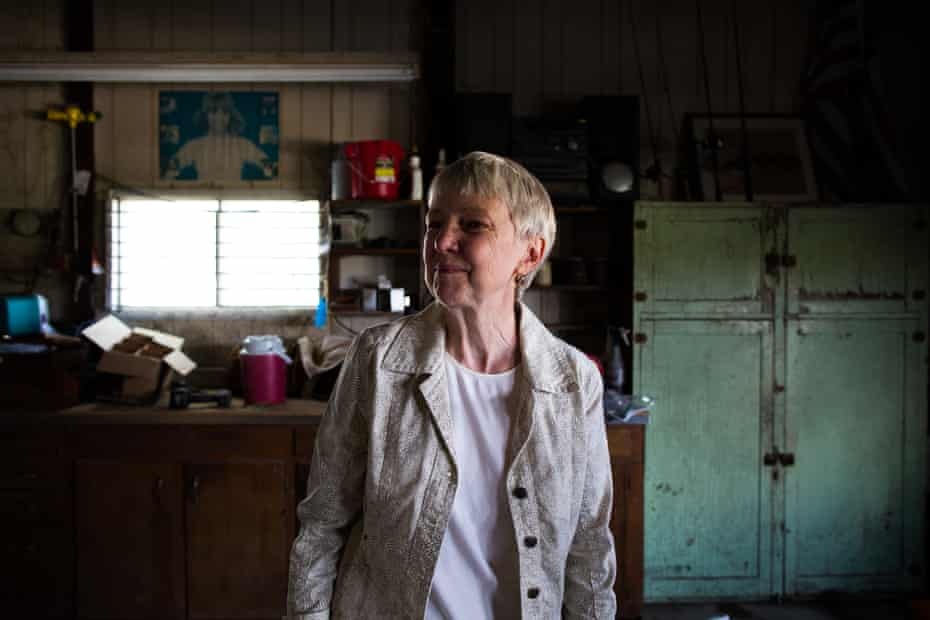 Ginnie Peters returns to the farm workshop in Perry, Iowa where she found her husband Matt's letter on the night he died.