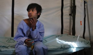 Pemba Tamang, 15, recovers at the Israeli field hospital for earthquake victims after being rescued in an operation led by a Nepalese team with American responders from the U.S. Agency for International Development assisting them, in Kathmandu, Nepal,.