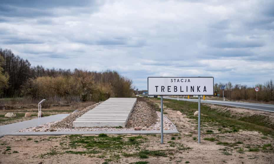 The monument marking the railway siding by the Treblinka death camp, where most of the inhabitants of the Drohiczyn ghetto died.