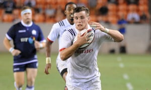 Sale fly-half AJ MacGinty, here in action against Scotland last year, helped guide the US past Canada.