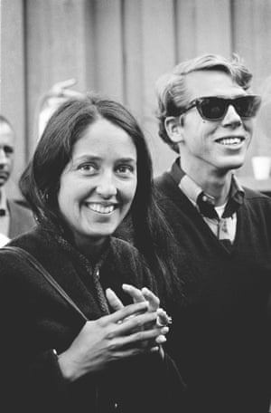 Joan Baez and friend, Monterey, 1965 by Jim Marshall