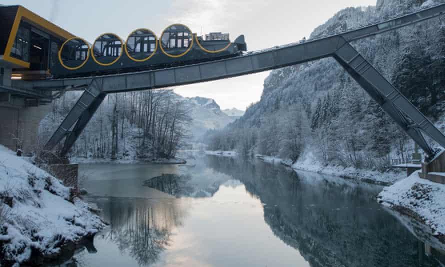 The Schwyz-Stoos funicular.