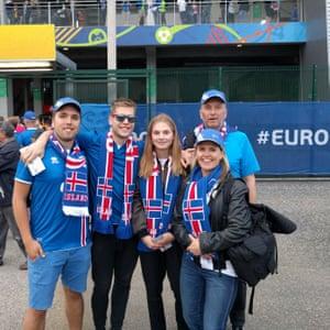 Tryggvi Kristjansson and his family at Euro 2016.