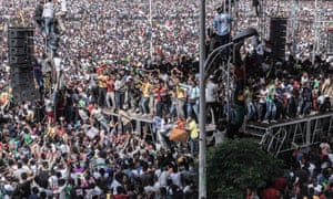Abiy Ahmed was speaking at a packed Meskel Square in Addis Ababa during the attack.