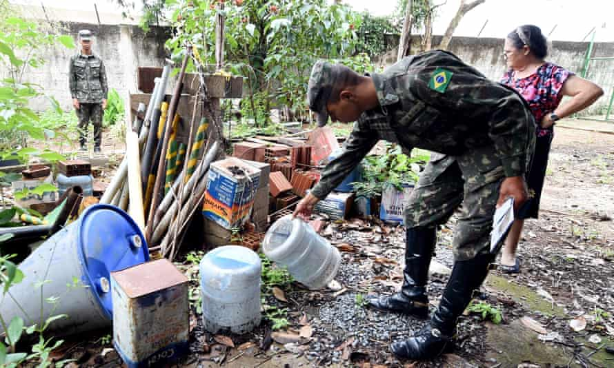 The armed forces have been deployed under a national mobilisation against the Aedes aegypti mosquito.