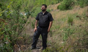 Matthew Heimbach, a white nationalist speaker and leader, in Kentucky.