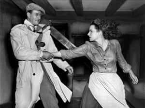 Teaming up with John Wayne again in The Quiet Man, 1952. O'Hara starred in 5 films with Wayne