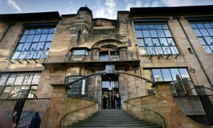 Glasgow School of Art, designed by Charles Rennie Mackintosh, seen here in 2002.