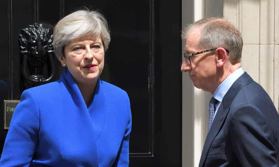 'Theresa May is still clinging limpet-like to power, although few expect her now to do so for long.'