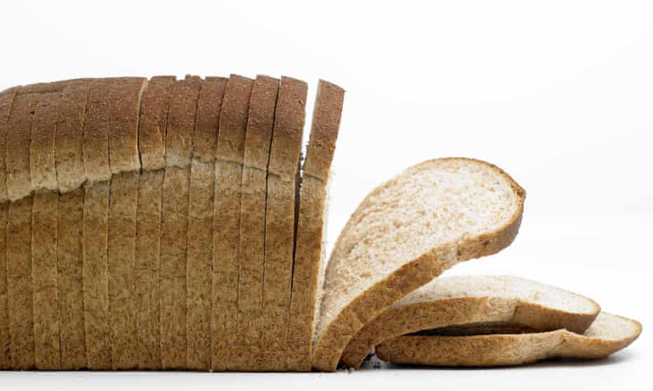 A sliced loaf of bread