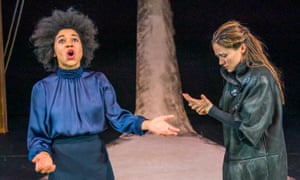 Isabel Adomakoh Young as Lady Macbeth and Olivia Dowd as Macbeth.
