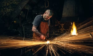 A blacksmith at work … the 'forgiving' metal in the poem is subjected to a fierce alchemical process.