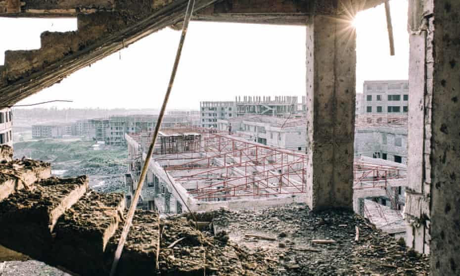 Condominiums being built outside Addis Ababa.