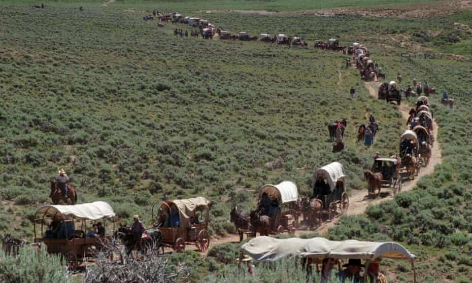 The Hunger depicts horror on a wagon journey across the US. Photograph: Associated Press.