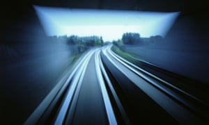 Train tracks, blurry