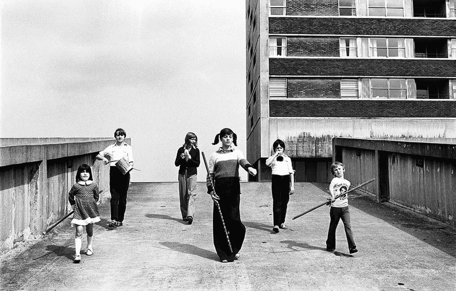 Kenilworth Road Kids, Cruddas Park, from the 1979 series Juvenile Jazz Bands.