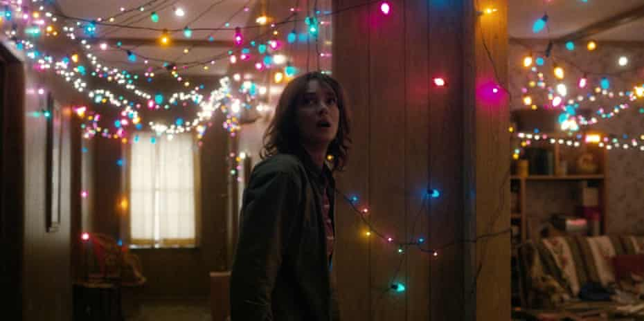 Message from beyond … Winona Ryder in Stranger Things.