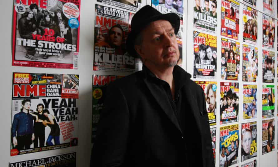Nick Kent at the NME offices in London in 2010.
