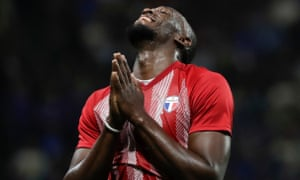Usain Bolt, pictured during an exhibition match last month, has trained with clubs in Germany, Norway and South Africa.