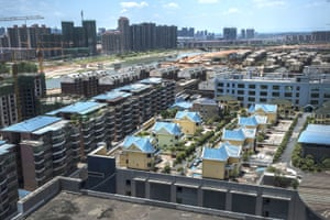 A developer built 25 houses on shopping centre roof, in Hengyang, China
